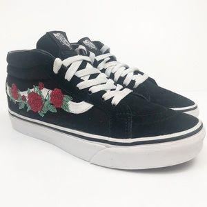 Vans Sk8 Mid Rose Skate Shoes Size 6